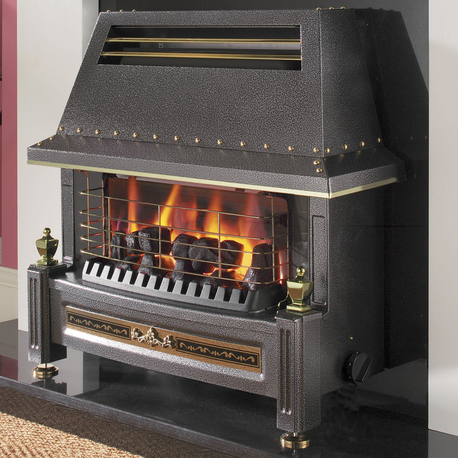 flavel natural gas fire regent living flame effect outset