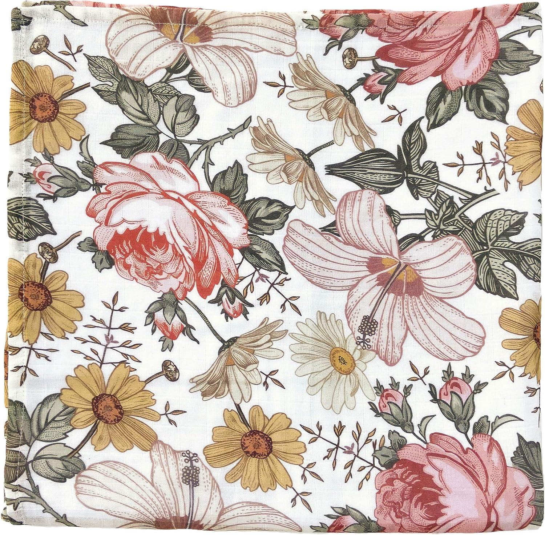 The Mini Scout Drap de coton tiss/é pour fille jardin Floral