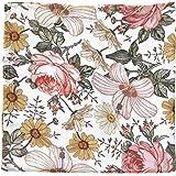 Muslin Swaddle Blanket - Mini Scout Garden Floral- Floral Swaddle Blanket for Girl