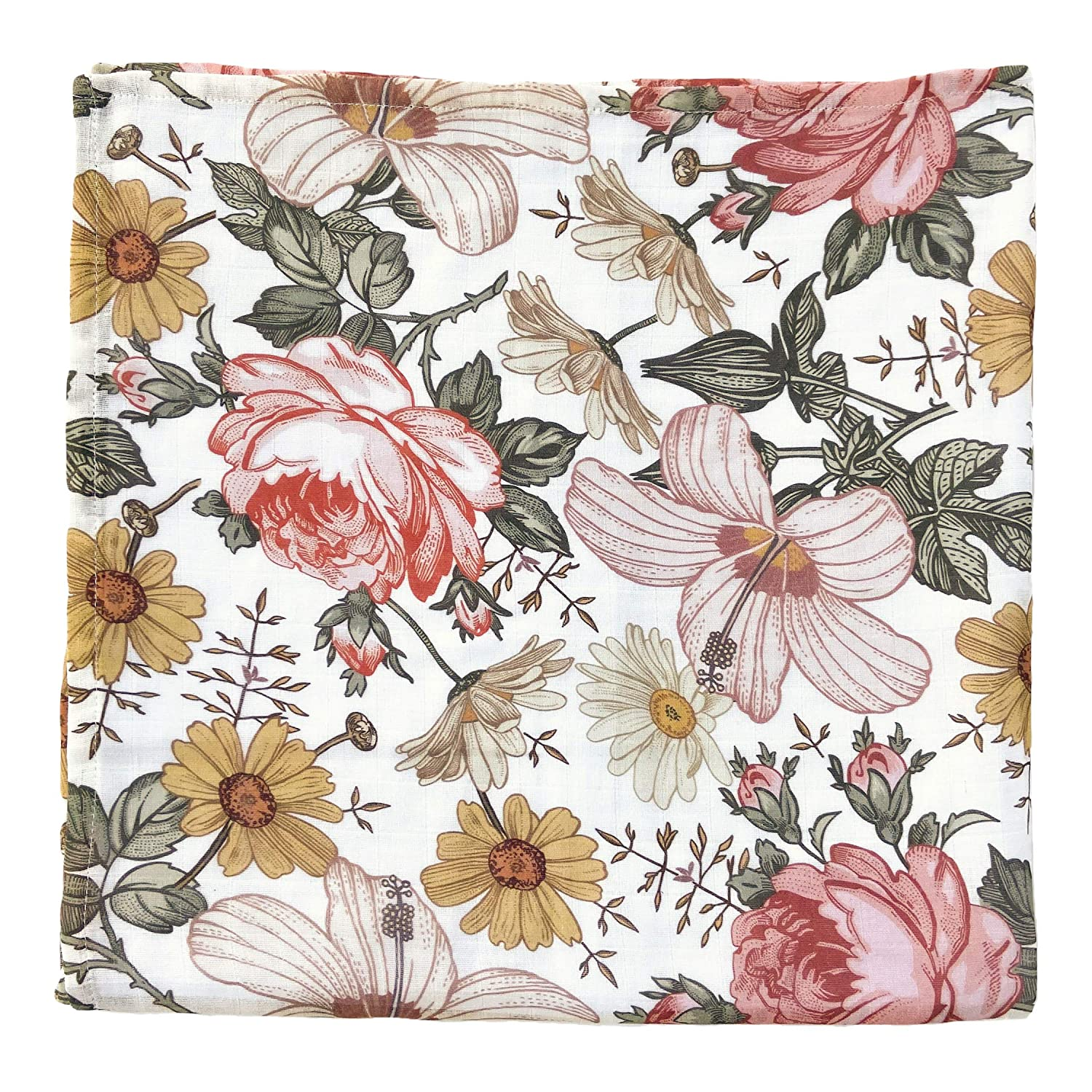 Floral Baby Blanket The Mini Scout Muslin Swaddle Blanket Baby Girl Swaddle Blanket