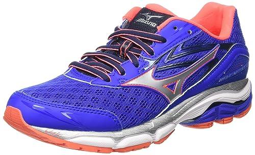 Mizuno Women's Wave Inspire 12 Running Shoes, Blue (Dazzling  Blue/Silver/Fiery