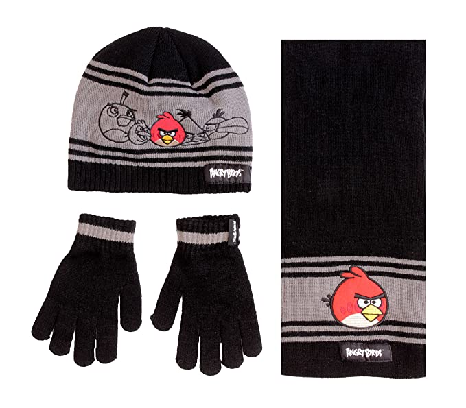 Boy/'s Angry Birds Red Winter Cap Hat NEW Knit Beanie