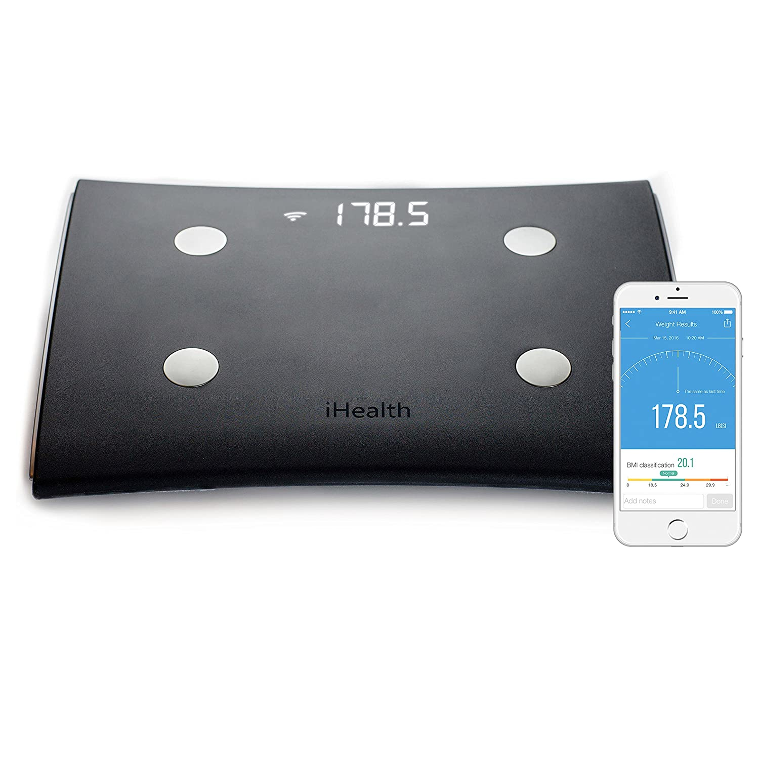 Cool amazoncom ihealth vista wireless body analysis scale for Scale a vista