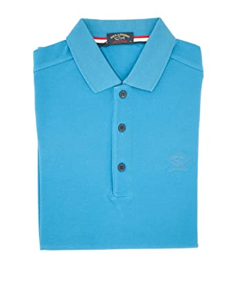 PAUL & SHARK Polo, Casual, Slimfit, Algodón Turquesa S: Amazon.es ...