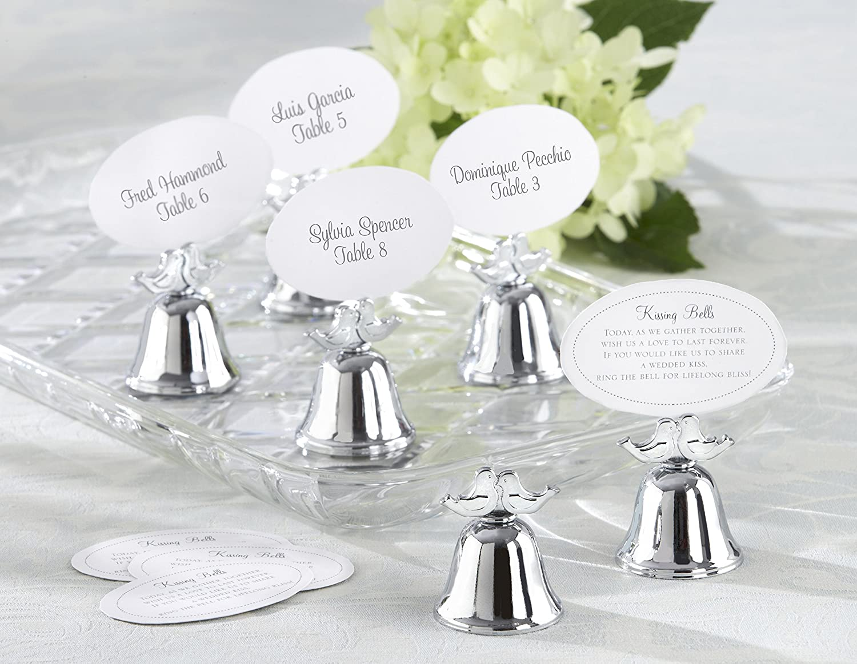 Amazon.com: Kate Aspen Love Birds Kissing Bell Place Card Holder ...