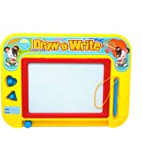 Aweoods Magnetic Drawing Board Doodle Sketch Writing Learning Toys for Kids Gift with 2 Stamps and 1 Pen
