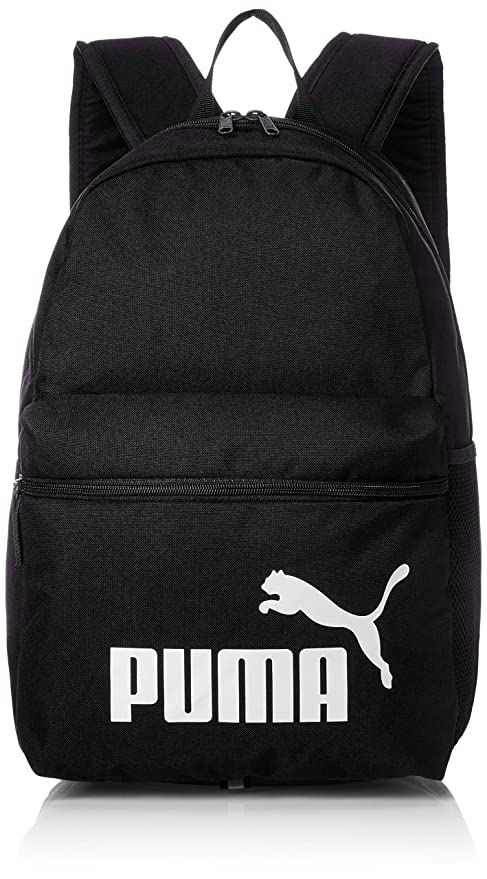 Amazon.com   Puma Phase Backpack Laptop shool sports 758487 01 black ... a90c499640d1c
