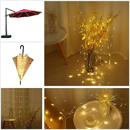 Areskey Christmas Lights Outdoor Decor,104 LED Mini Starry Curtain Light,Umbrella  Light, - Areskey Christmas Lights Outdoor Decor, 104 LED Mini Starry Curtain