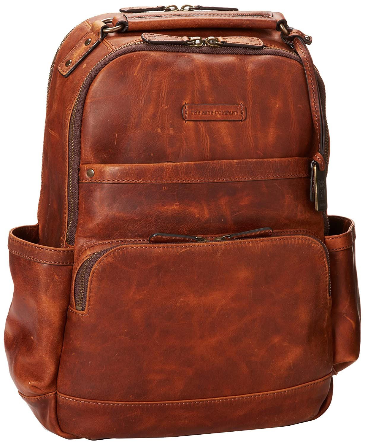 Amazon.com: FRYE Logan Backpack Backpack Cognac Antique Pull Up ...