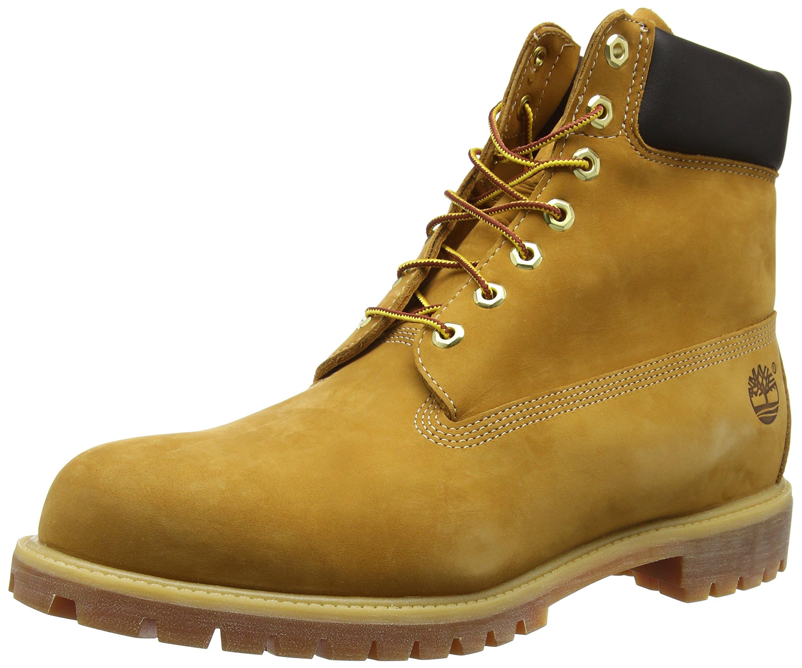 Timberland Men's 6 inch Premium Waterproof Boot,Wheat Nubuck,11.5 M US
