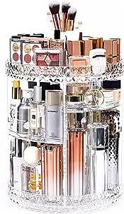 منظم للمكياج من دريم جينيوس، منظم تخزين مستحضرات التجميل دوار 360 درجة، حقيبة عرض مكياج قابلة للتعديل من 7 طبقات، تناسب المجوهرات، فرش المكياج، أحمر الشفاه، هدية للنساء والزوجة، أكريليك شفاف