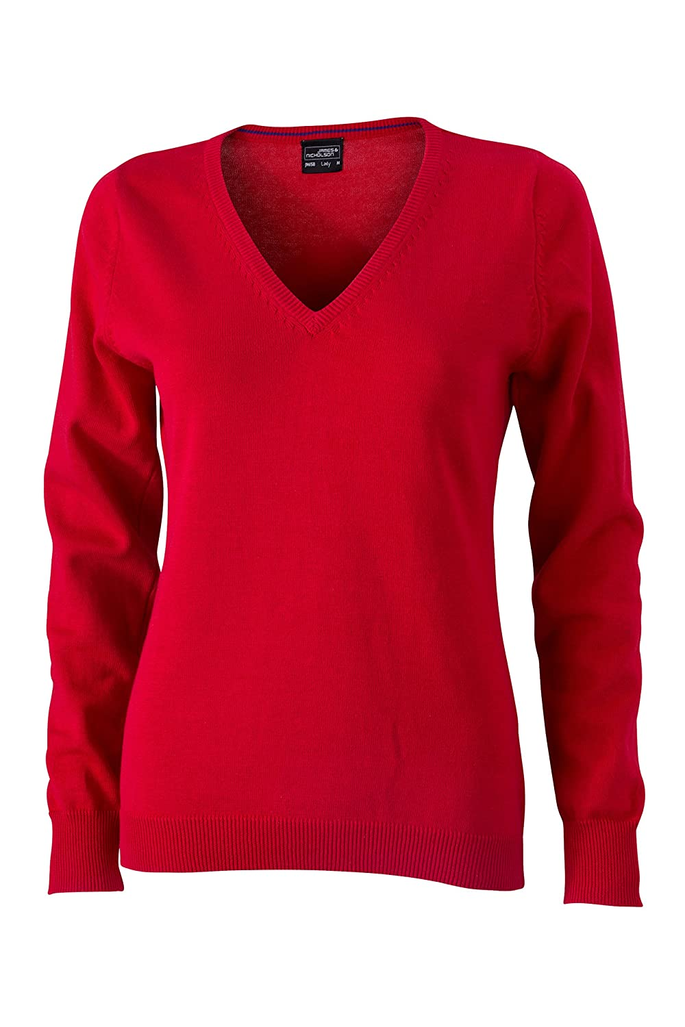 James & Nicholson Ladies V Neck Pullover, Womens, V-Neck Pullover Daiber