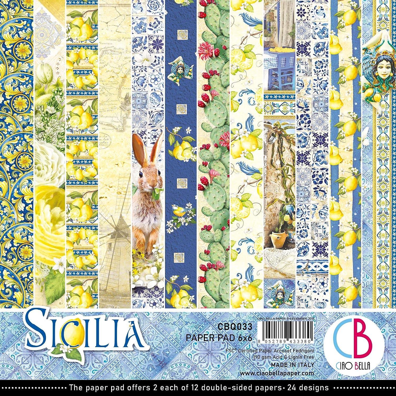 "Ciao Bella Double-sided Paper Pack 90lb 12/""x12/"" 12//pkg-sicilia 12 Designs"