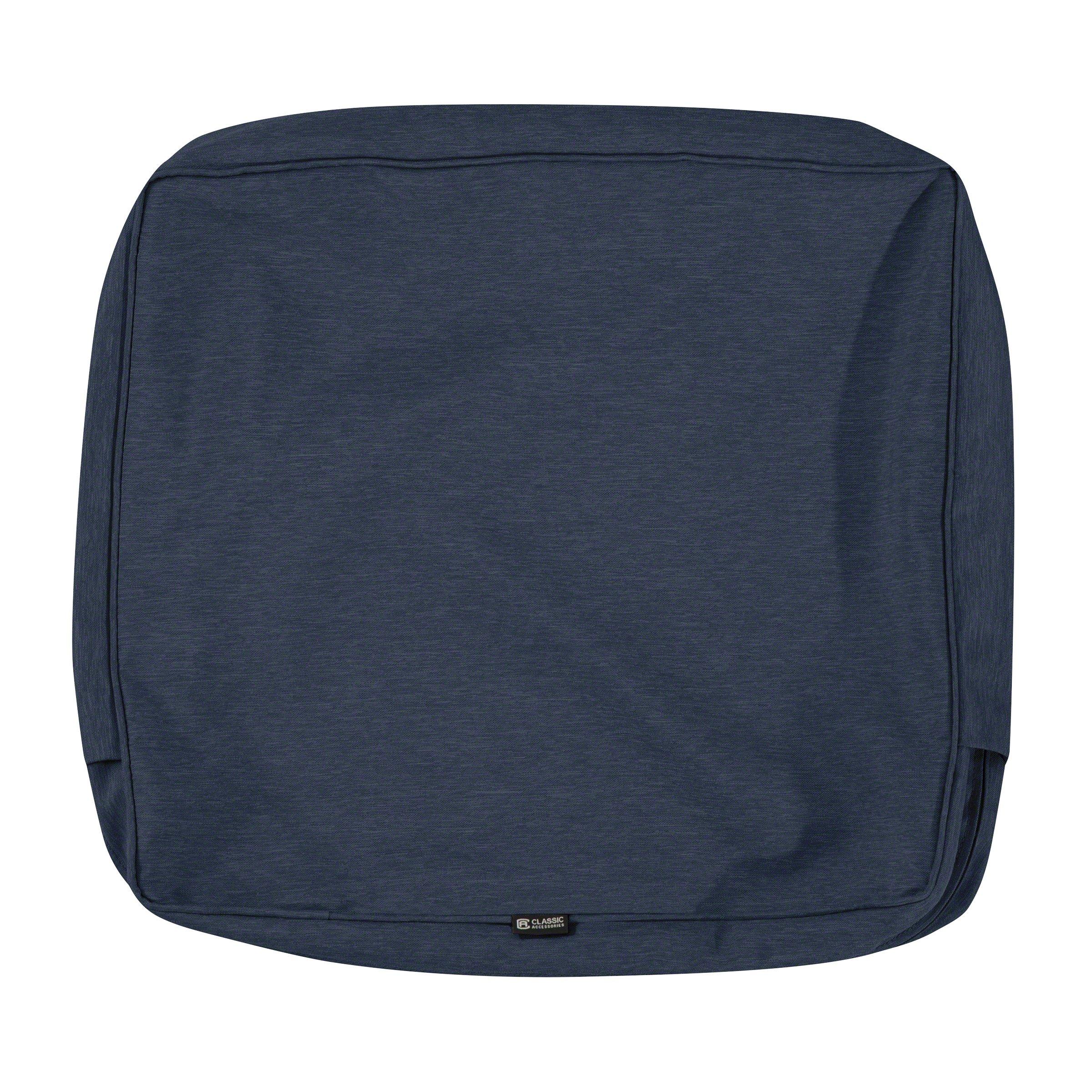 Classic Accessories Montlake Patio FadeSafe Back Cushion Slip Cover, Indigo 23'' Wx22 Hx4 T