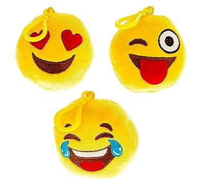 Amazon.com: Clips para mochila con diseño de emoticono para ...