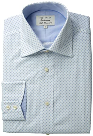 655bc5c77d8d Amazon.com  Ted Baker Men s Flodot Sterling Endurance Shirt  Clothing