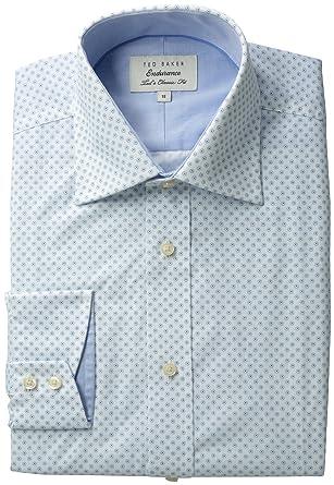 dc62ab85ab4d Amazon.com  Ted Baker Men s Flodot Sterling Endurance Shirt  Clothing