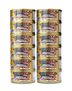American Tuna MSC Certified Sustainable Pole & Line Caught Albacore Tuna, 6oz Can w/ Sea Salt, Caught & Canned in America (12 Pack)