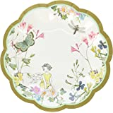 Talking Tables Truly Fairy Disposable Plates, 12 count, with Fairy Design for a Tea Party or Birthday