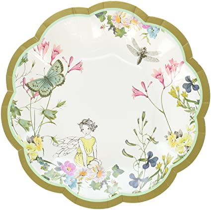 Talking Tables Truly Fairy Disposable Plates 12 count with Fairy Design for a Tea  sc 1 st  Amazon.com & Amazon.com: Talking Tables Truly Fairy Disposable Plates 12 count ...