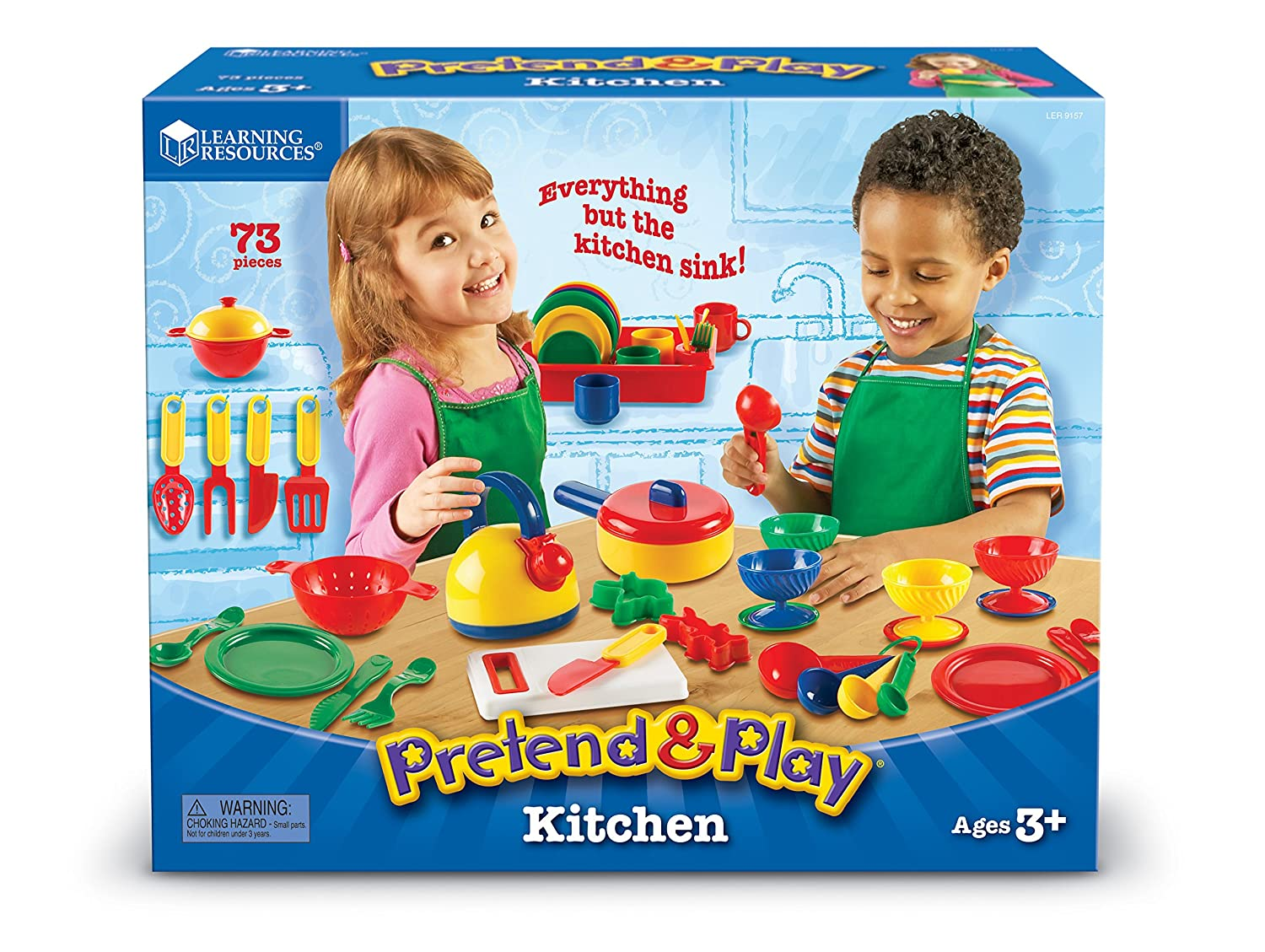Amazon.com: Learning Resources Pretend U0026amp; Play Kitchen Set: Toys U0026 Games