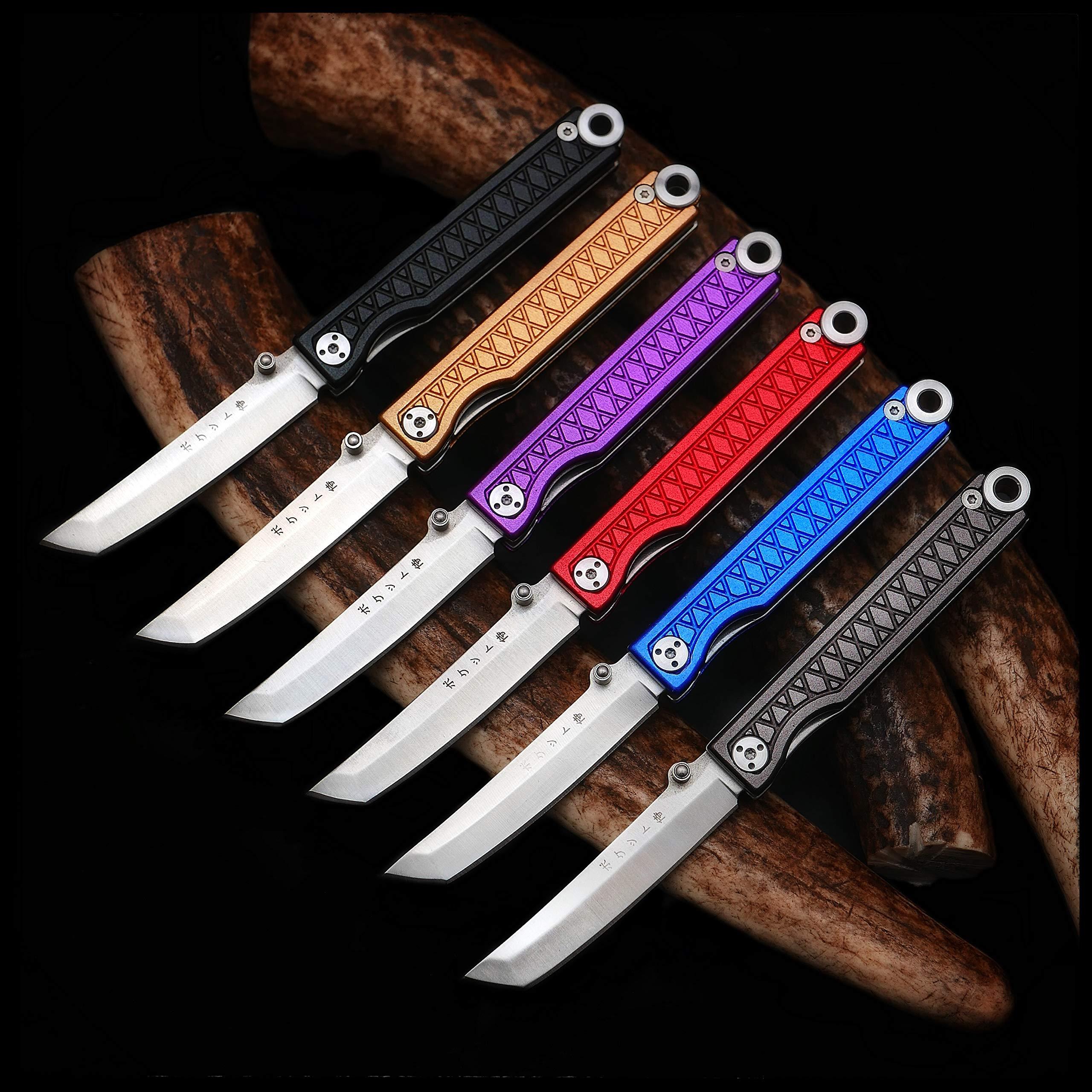 StatGear Pocket Samurai Higonokami Folding Knife 440C Stainless Steel - Aluminum Edition (Black/Black) by StatGear (Image #3)