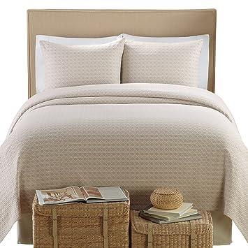 Lamont Home Lanai Matelasse 100 Percent Cotton 3 Piece Coverlet/Sham Set,