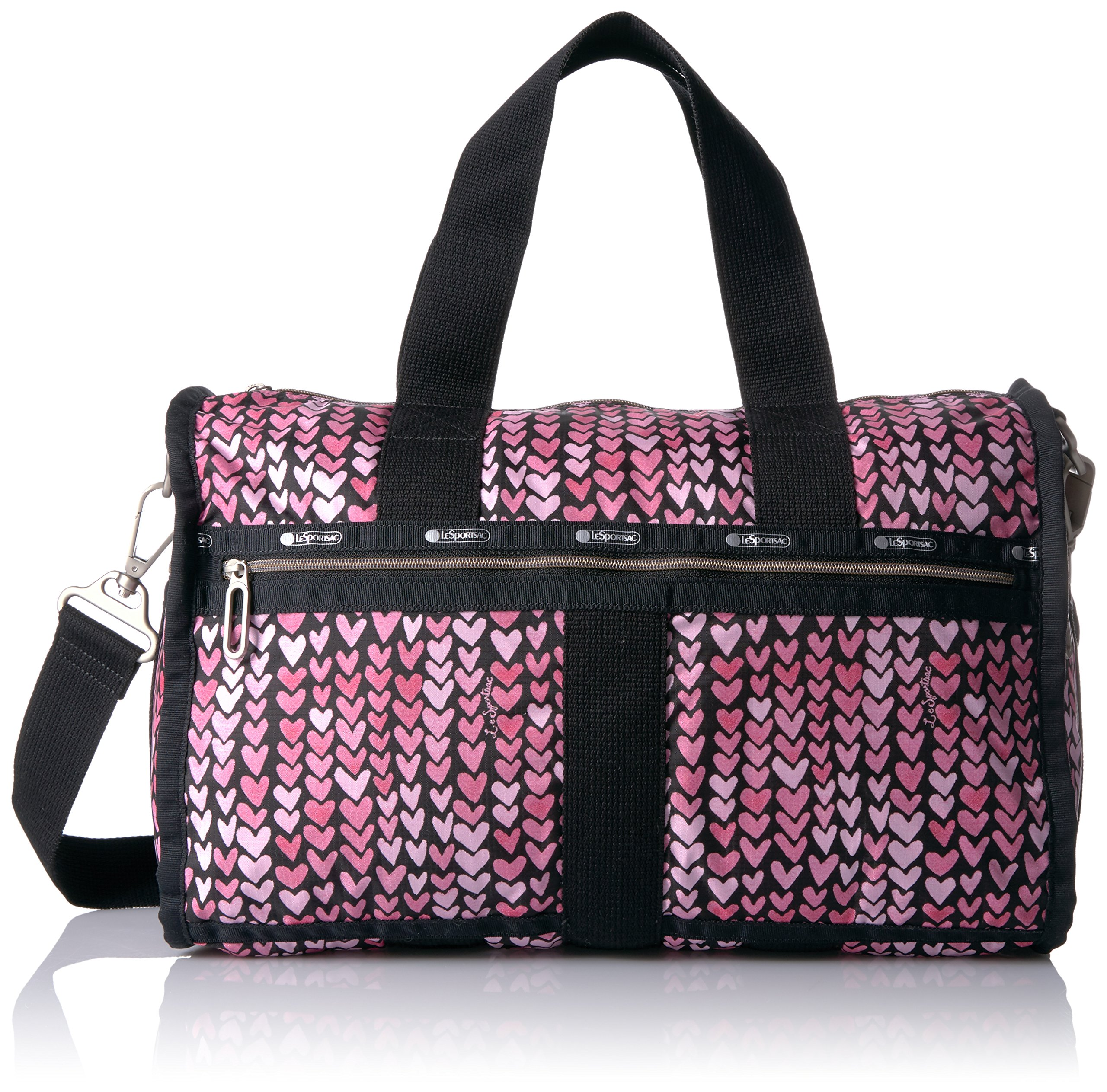 LeSportsac Women's Essential Small Weekender, Painted Hearts Pink