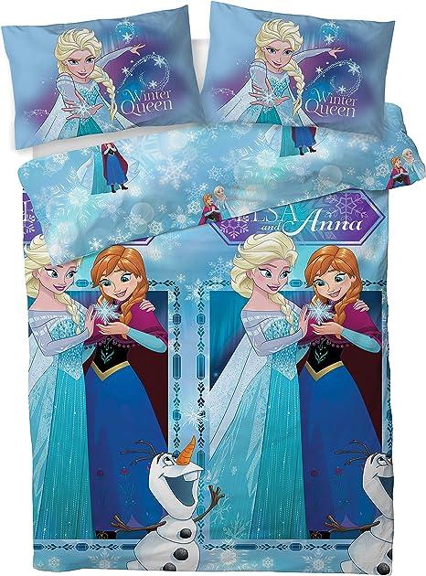 Copripiumino Matrimoniale Frozen.Disney Set Copripiumino Matrimoniale Frozen 2 Winter Queen