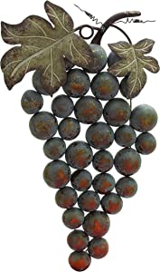 Plutus Brands Weathered Metal Grape Wall Decor