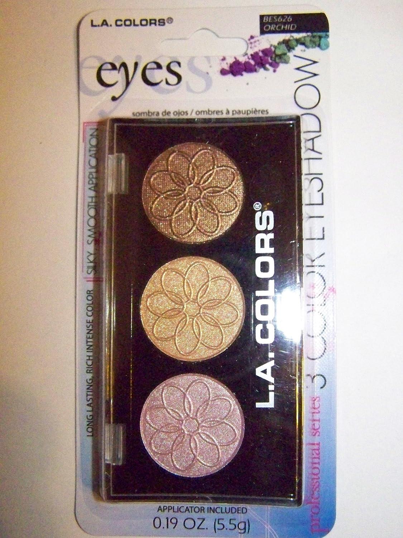 LA Colors 3 Colors Eyeshadow Palette 0.19oz (Orchid)
