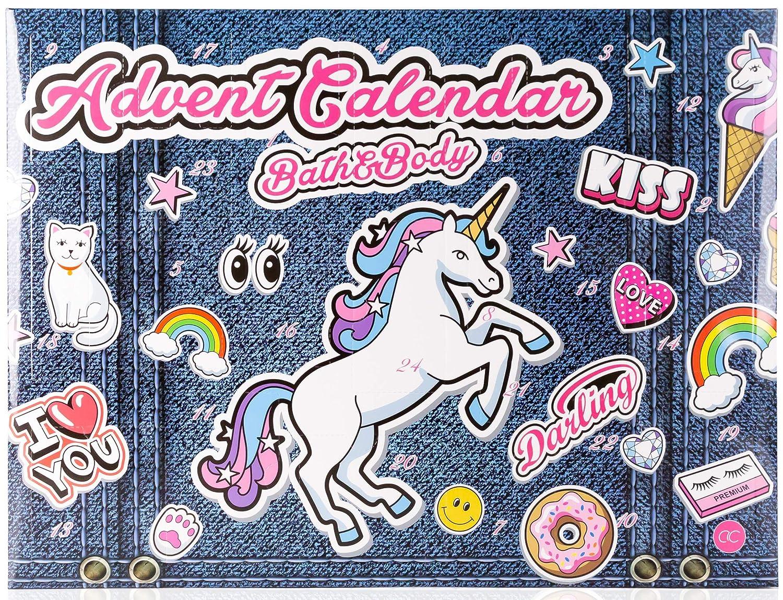 Einhorn Körperpflege Adventskalender - JEANS EDITION - Kosmetik Weihnachtskalender Unicorn matrasa