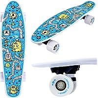 Street Surfing Fizz Divertido Tablero, Skateboard Completo 22 Pulgadas. Tabla de Crucero pequeña de tamaño Compacto. Ruedas Lisas, portátil, Tabla de Skate Ligera.