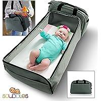 Scuddles - 3-1- Bassinet Portable - pour bébé - Lit Pliable - Peut Servir de Sac à Langer et de Station à Langer - Pliage Facile pour Voyager