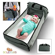 Scuddles- 3-1| Portable Bassinet | for Baby | Foldable Baby Bed | Travel Bassinet Functions As A Diaper Bag and Changing Station , Easy Folding for Travel (1)