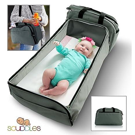 Scuddles - portátil Cama Viajes Bolsa de Pañales para bebé Cama Cuna y Crib- W