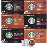 Starbucks Black Coffee K-Cup Variety Pack for Keurig Brewers, 6 boxes of 10 (60 total K-Cup pods), 60 Count