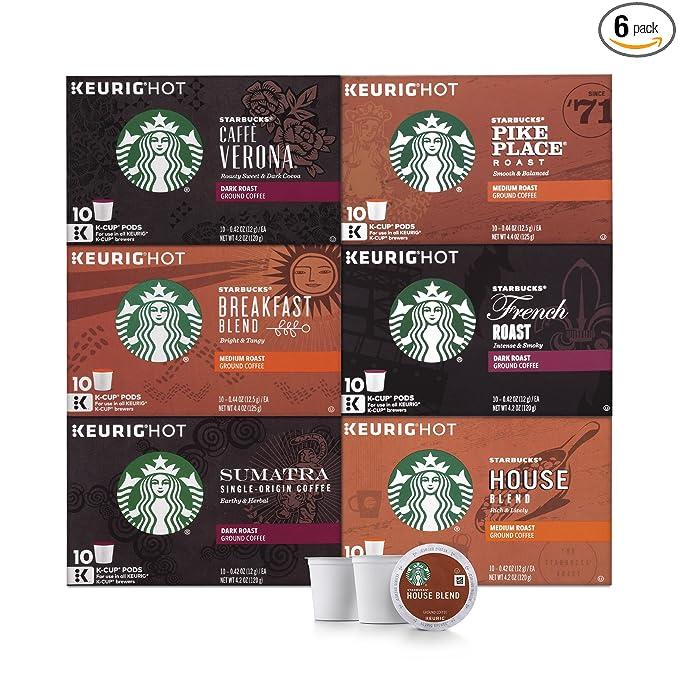 Starbucks Paquete de variedad de K-cups para cafeteras ...