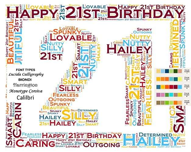 21st Birthday Gifts Gift Ideas Personalized