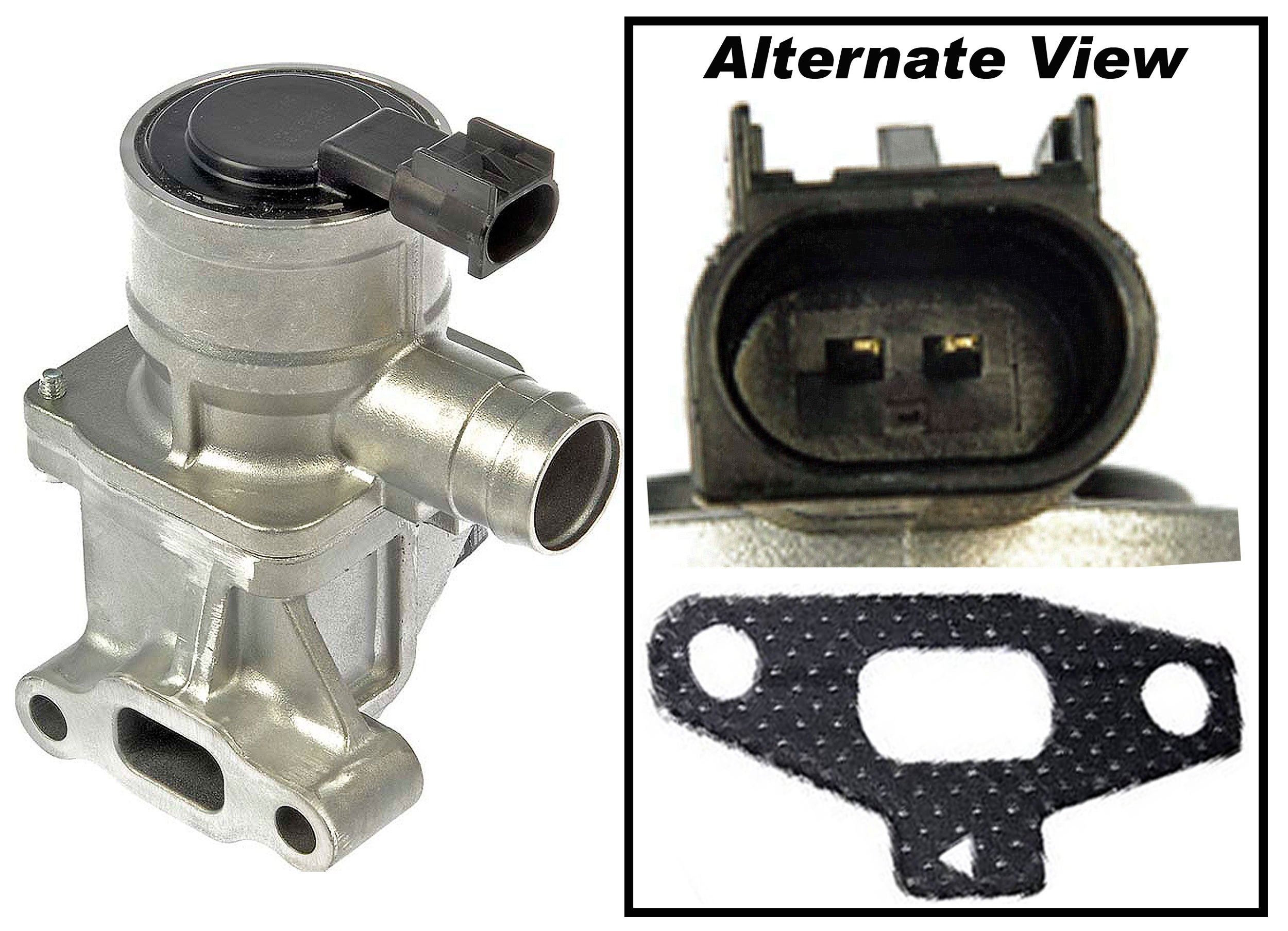 APDTY 022114 Secondary Air Injection Emission Shutoff Check Valve w/ Gasket Fits 4.2L 2004-2005 Buick Rainier Chevrolet Trailblazer GMC Envoy Olds Bravada Saab 9-7X (Replaces 12619128, 12575655)