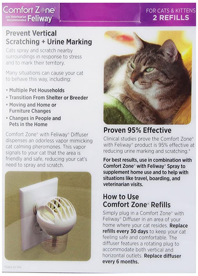 image helps scratching comfort feliway upc comforter pack zone cats with product for diffuser control urine marking