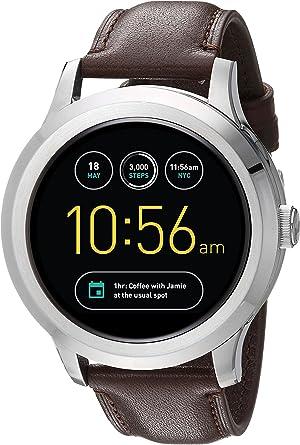 Amazon.com: Smartwatch Fossil Q Founder Gen 2 negro, correa ...