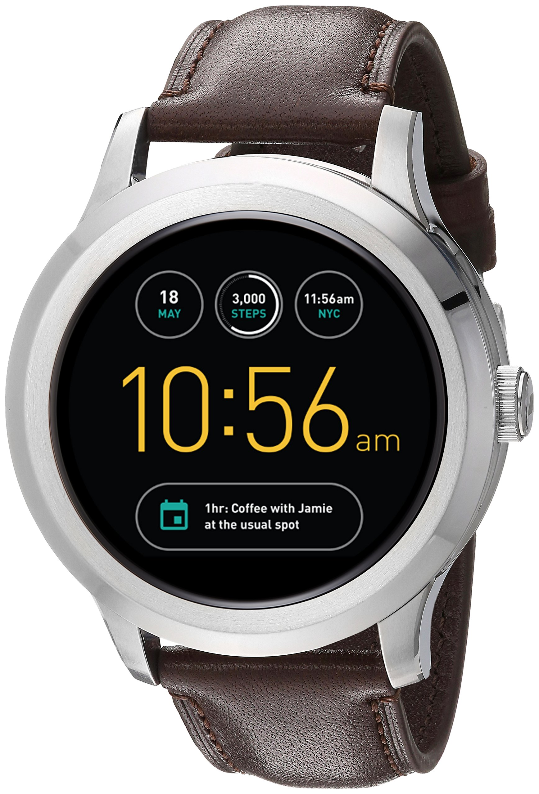 Fossil Q Founder Gen 2 Dark Brown Leather Touchscreen Smartwatch FTW2119 by Fossil (Image #1)