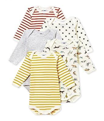 a7f39fd06a327 Petit Bateau SF Bodies Us ML Body (Lot de 5) Bébé garçon: Amazon.fr:  Vêtements et accessoires