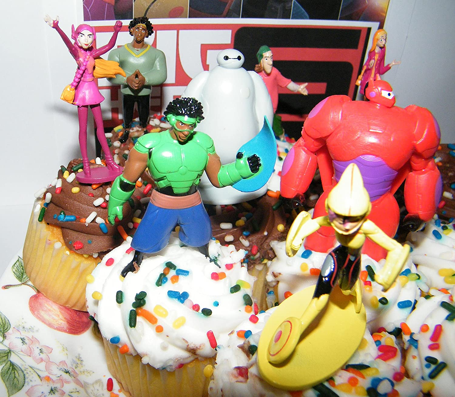 Disney Big Hero 6 Figure Cake Toppers Cupcake Party Favor