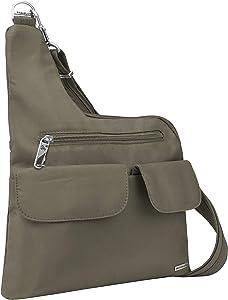 Travelon: Anti-Theft Classic Crossbody Bag - Nutmeg - Polyester