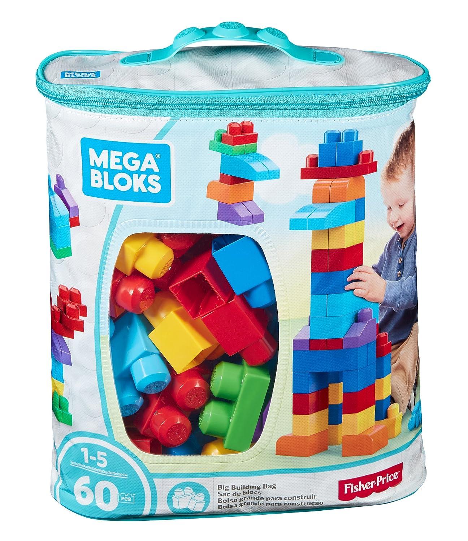 Mega Bloks Juego de construcción de piezas con bolsa ecológica clásica Mattel