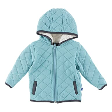 474d56624b6b Amazon.com  Kickee Pants Quilted Jacket with Sherpa Lined Hood  Clothing