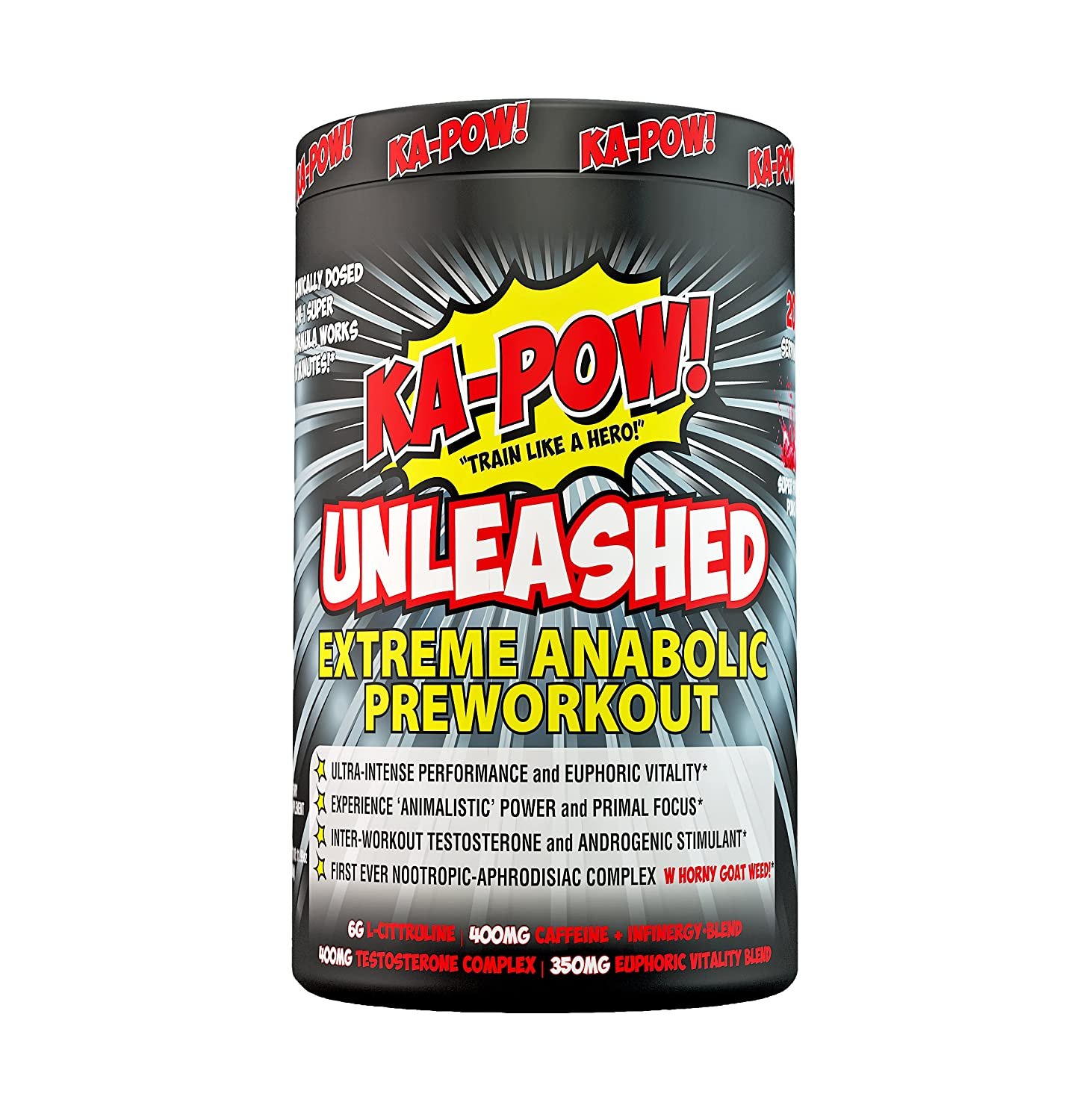 Amazon Com Ka Pow Unleashed Extreme Anabolic Preworkout The