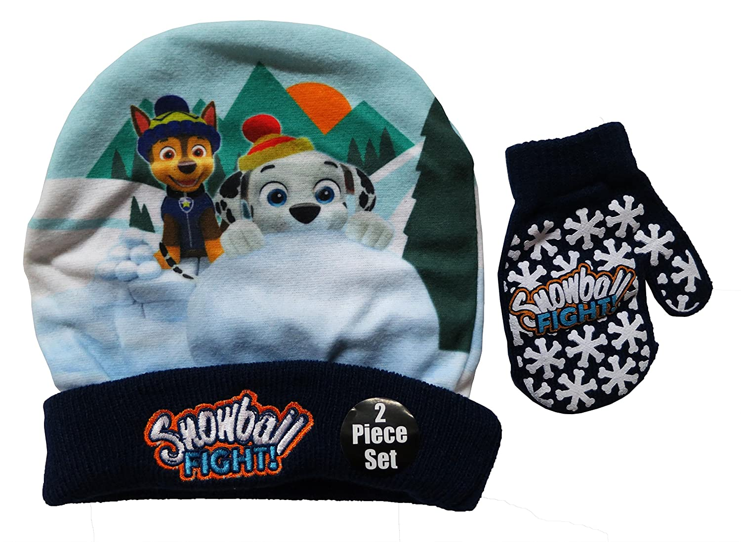 Nickelodeon Paw Patrol Marshell and Chase Hat and Mittens Set - Size Toddler [4013]